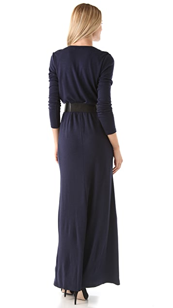 alice + olivia Emmie Maxi Dress with Belt