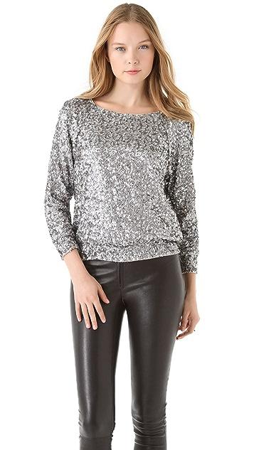 alice + olivia Evelina Sequined Sweatshirt