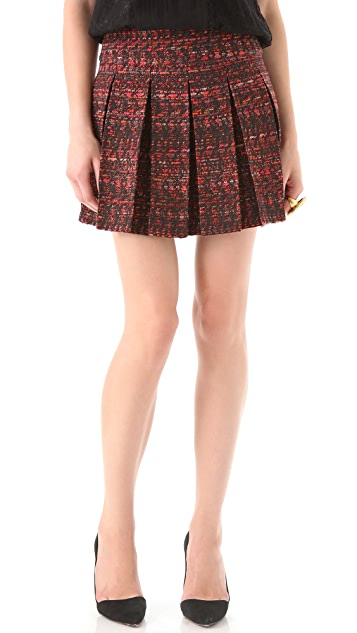 alice + olivia Houston Box Pleat Skirt