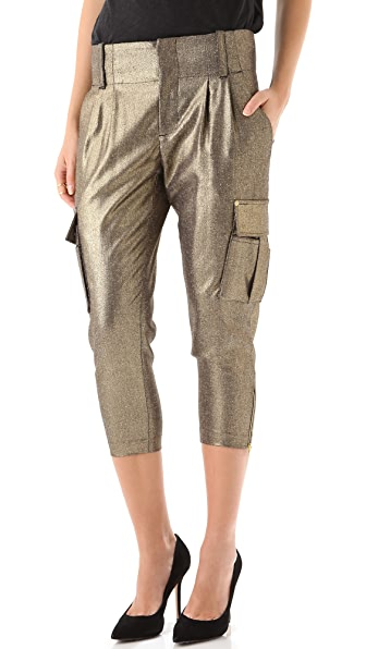 alice + olivia Anders Cropped Cargo Pants