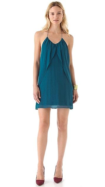 alice + olivia Draped Panel Dress