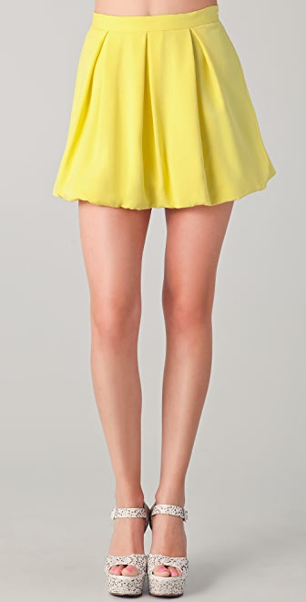 alice + olivia Rhymes Bubble Miniskirt