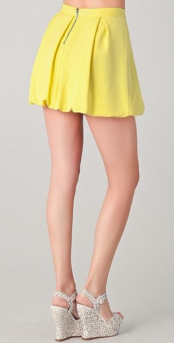 alice + olivia Rhymes Bubble Miniskirt