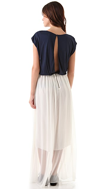alice + olivia Cap Sleeve Maxi Dress