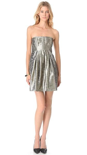alice + olivia Ashley Metallic Dress