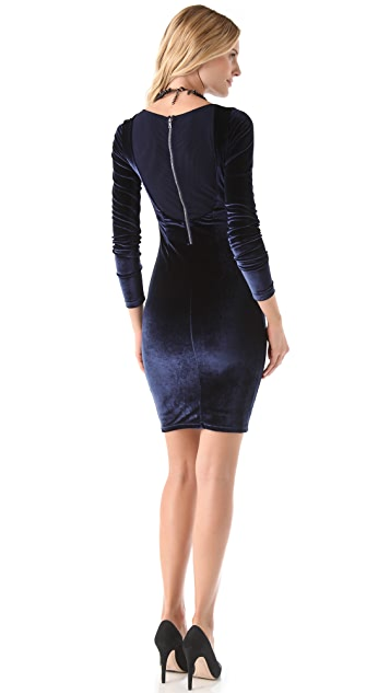 alice + olivia Tatum Sheer Back Dress