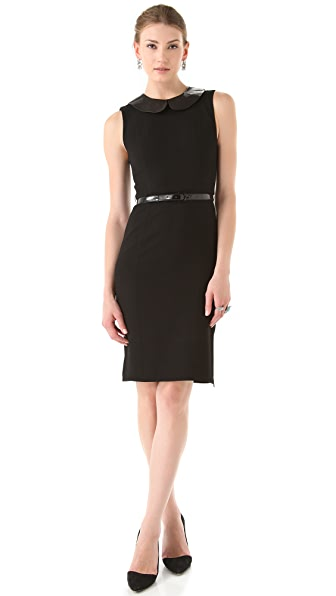alice + olivia Osie Dress with Leather Collar