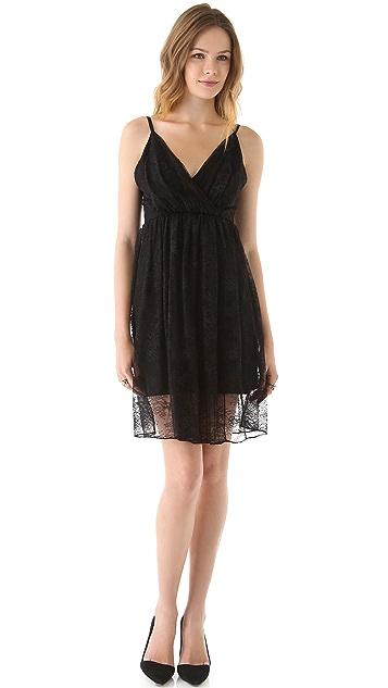 alice + olivia Nat Overlay Drape Dress