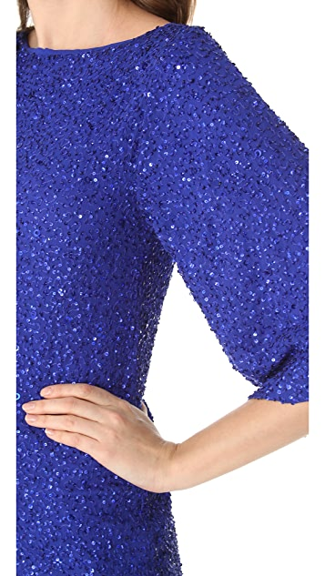 alice + olivia Lari Sequin Dress
