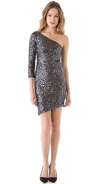 alice + olivia Nicky One Shoulder Dress