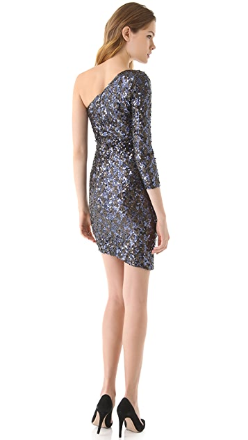 alice + olivia Nicky One Shoulder Dress