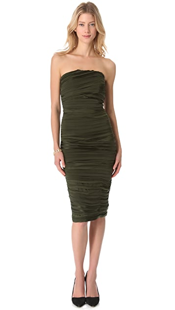 alice + olivia Clay Fitted Dress