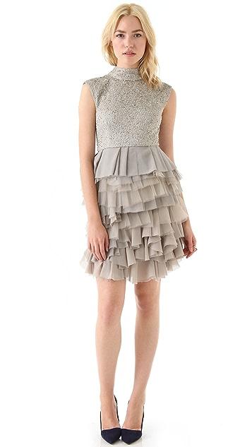 alice + olivia Hattie Sequin Dress