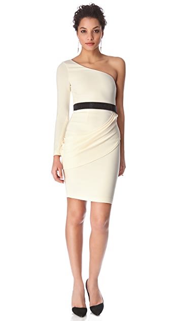 alice + olivia Maryellen One Shoulder Dress