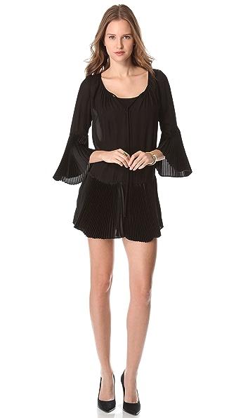 alice + olivia Woodie Pleated Tunic Dress