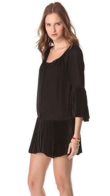 alice + olivia Woodie Pleated Tunic Dress