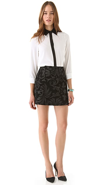 alice + olivia Minah Brocade Skirt