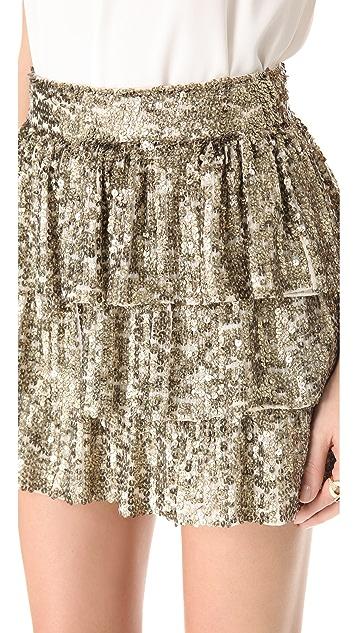 alice + olivia Thalia Tiered Ruffle Skirt