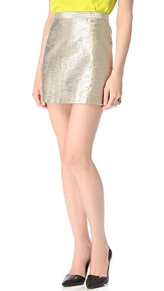 alice + olivia Metallic Riley A Line Skirt
