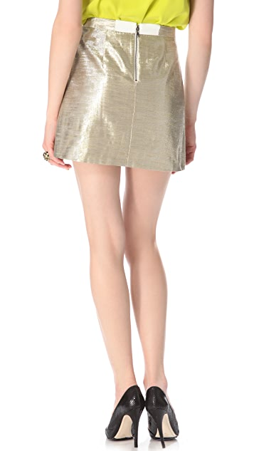 alice + olivia Metallic Riley A Line Skirt
