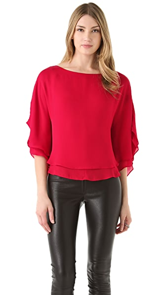 alice + olivia Hampton Dolman Sleeve Top