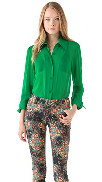 alice + olivia Brazil '70s Button Down Blouse