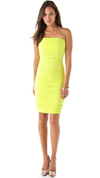 alice + olivia Venus Mid Length Ruched Dress