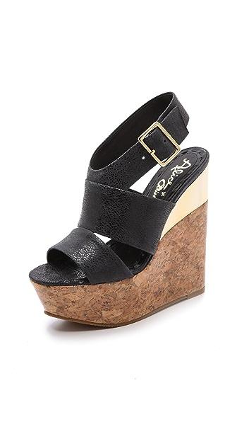 alice + olivia Steffie Wedge Sandals