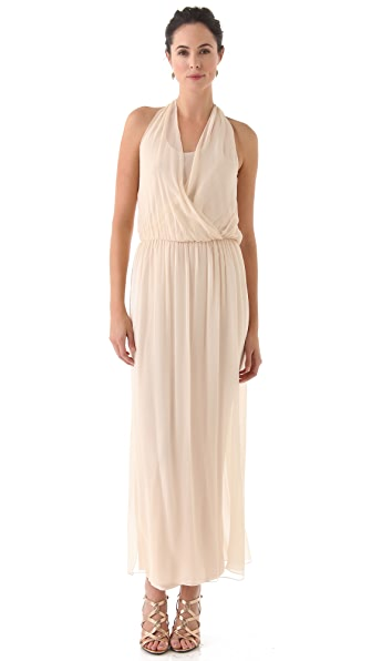 alice + olivia Wrap Front Maxi Dress