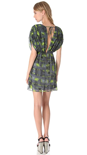 alice + olivia Eileen Drop Shoulder Dress