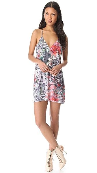 alice + olivia Print Fierra Y Back Dress