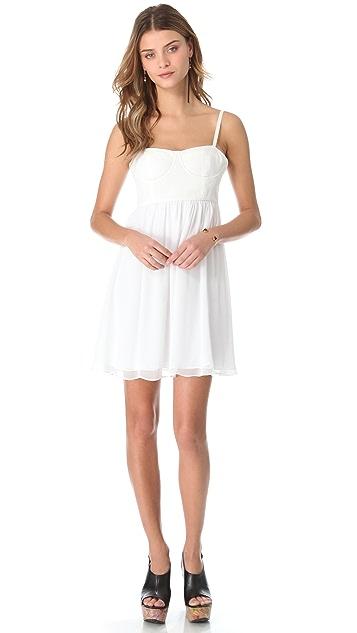 alice + olivia Mindie Stitched Bustier Dress