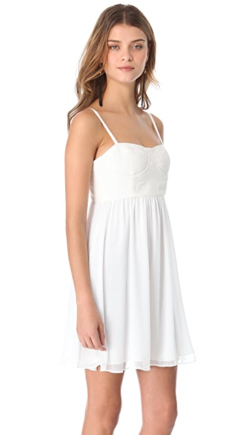alice + olivia Mindie Stitched Bustier Dress