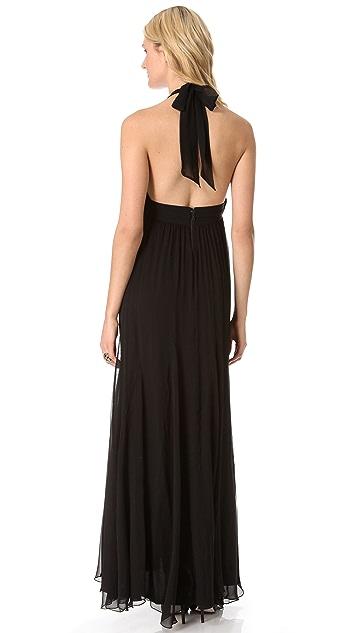 alice + olivia Alberta Long Halter Dress
