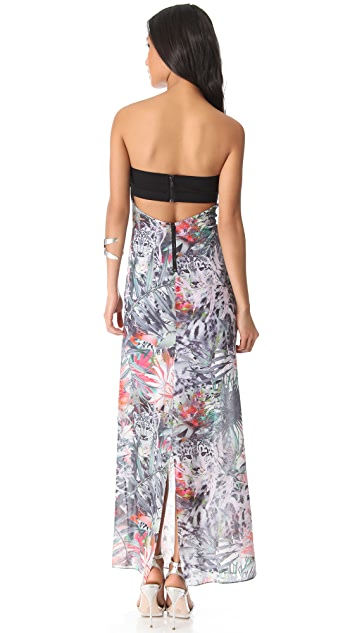 alice + olivia Missy Strapless Maxi Dress