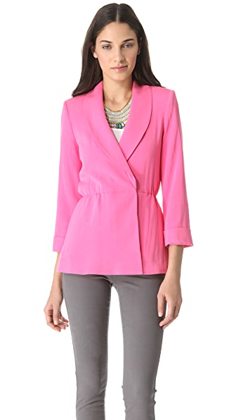 alice + olivia Landra Wrap Jacket