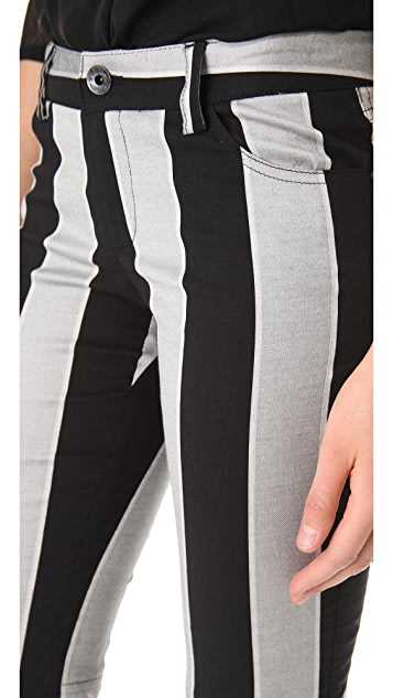 alice + olivia Stacey Stripe Bell Pants