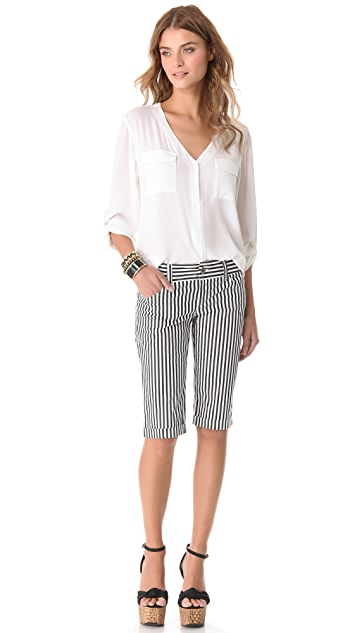 alice + olivia 5 Pocket Long Shorts