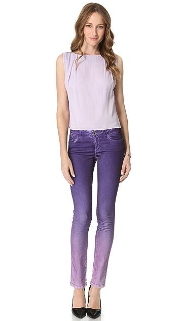 alice + olivia Ombre Dip Dye Skinny Jeans