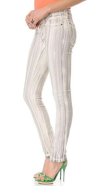 alice + olivia Brushed 5 Pocket Skinny Jeans