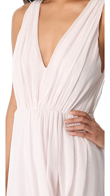 alice + olivia Side Drape Dress