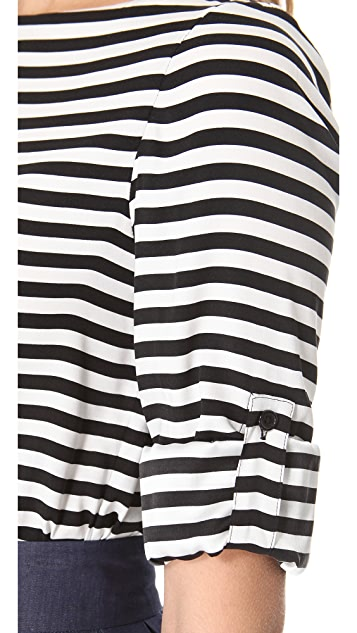 alice + olivia Curtis Rolled Sleeve Top