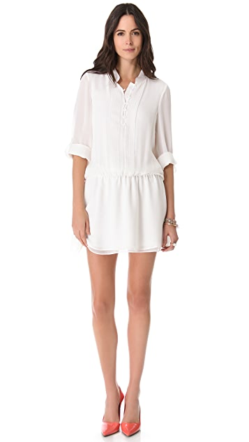 alice + olivia Tavi Pintuck Dress
