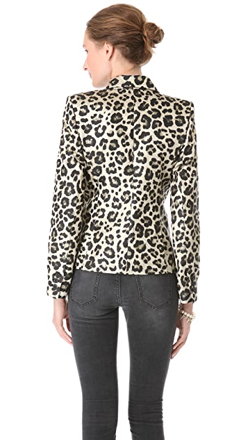 alice + olivia Leopard Elyse Blazer