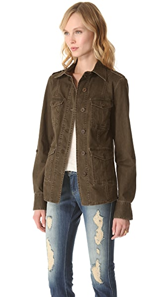 alice + olivia Farlie Military Shirt Jacket
