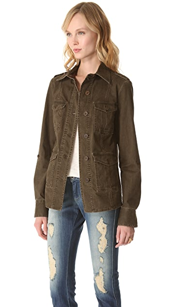 alice + olivia Farlie Military Shirt Jacket