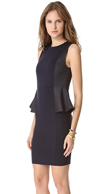 alice + olivia Side Peplum Sleeveless Dress