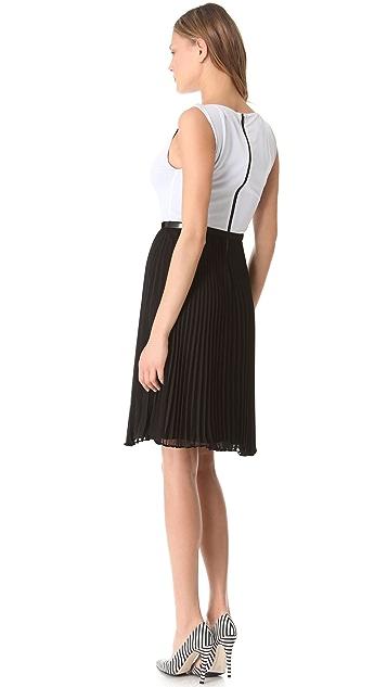 alice + olivia Pleated Skirt Dress
