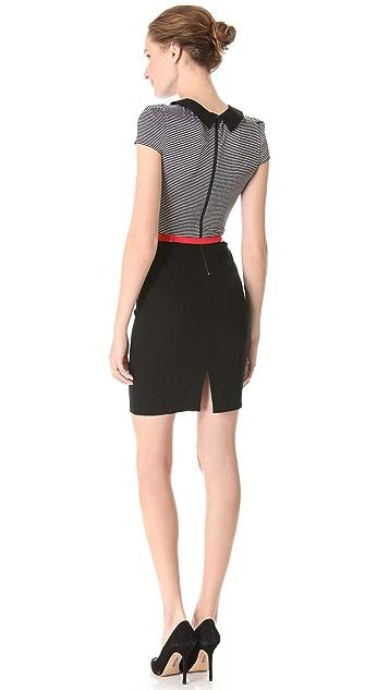 alice + olivia Peter Pan Stripe Dress