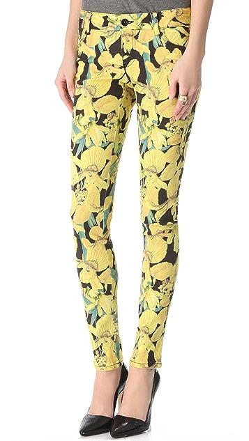 alice + olivia Floral Skinny Jeans